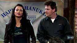 Sofia Vergara & Donal Logue in The Knights of Prosperity