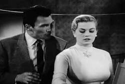 Jack Palance and anita Ekberg in The Man Inside - 1958