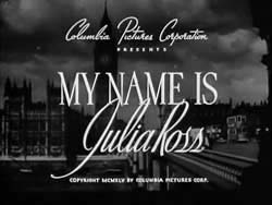 My Name Is Julia Ross - 1945