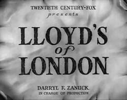 Lloyd's Of London - 1936