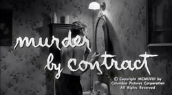 Murder By Contract - 1958