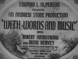 With Words And Music - 1937