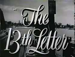 The 13th Letter - 1951