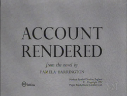 Account Rendered (1957)
