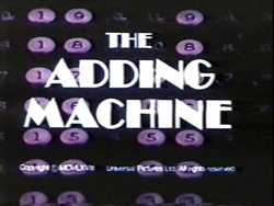 The Adding Machine - 1969