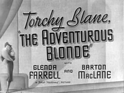 The Adventurous Blonde (1937)