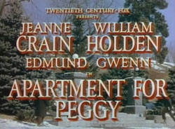 Apartment For Peggy - 1948