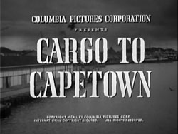 Cargo To Capetown - 1950
