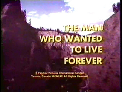The Man Who Wanted To Live Forever - 1970
