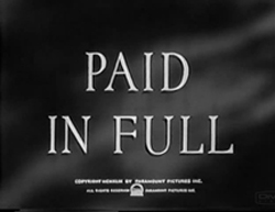 Paid In Full - 1950