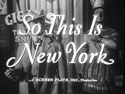 So This Is New York (1948)